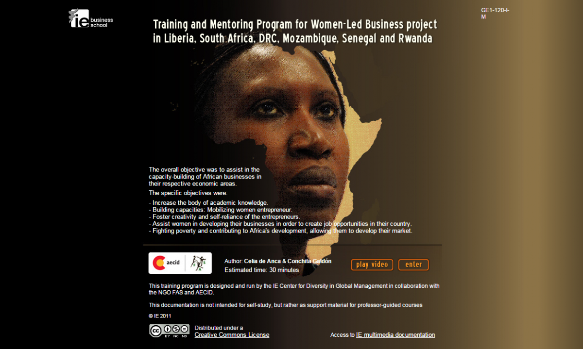 MULTIMEDIA CASE STUDY: Training and Mentoring Programfor Women Led- Business in Liberia, DRC, Rwanda, Senegal,Mozambique & South Africa